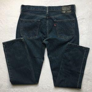 Levis 511 Dark Blue Denim Jeans Size 34 x 32
